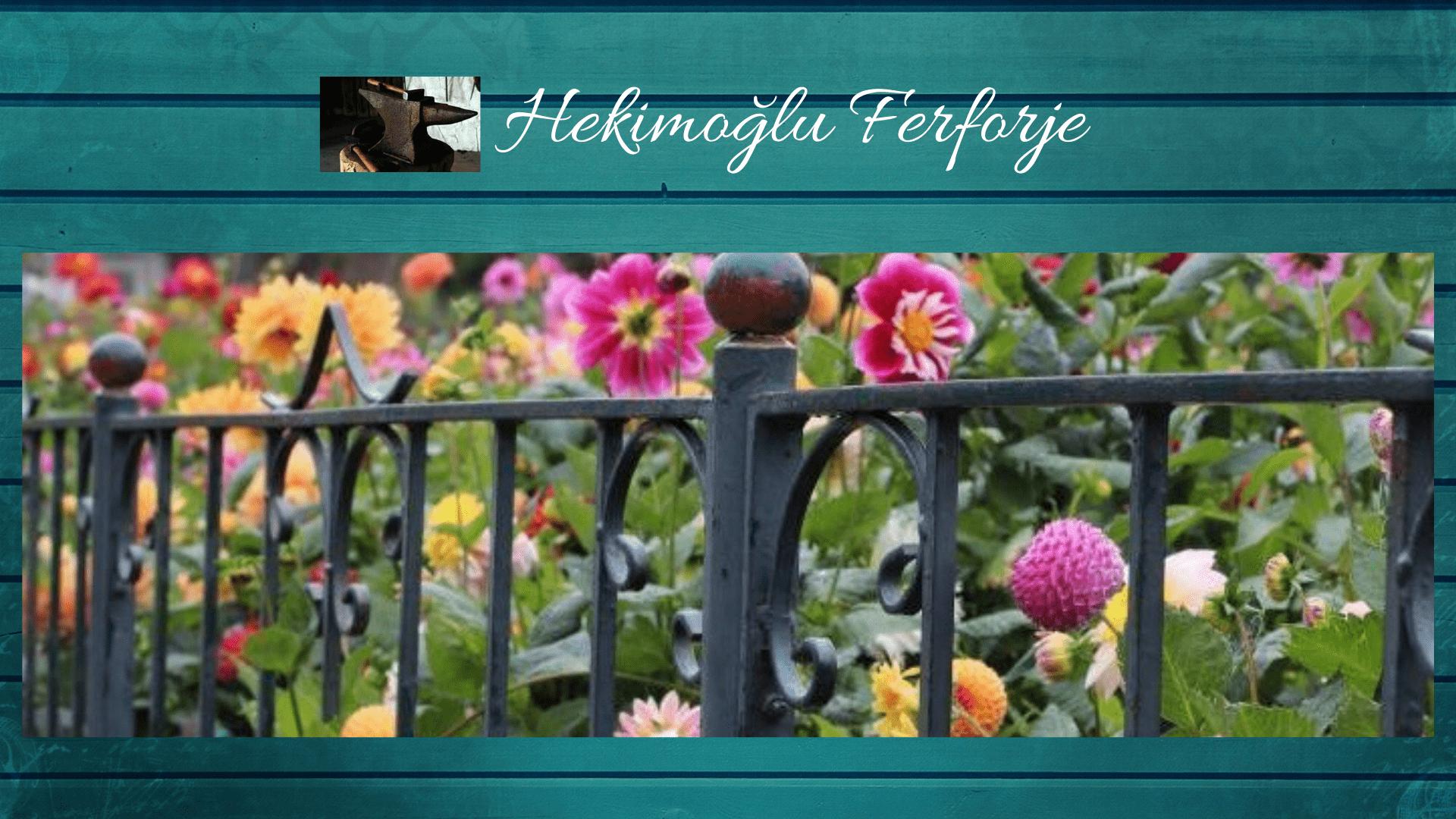 Ferforje bahçe korkuluğu İzmir