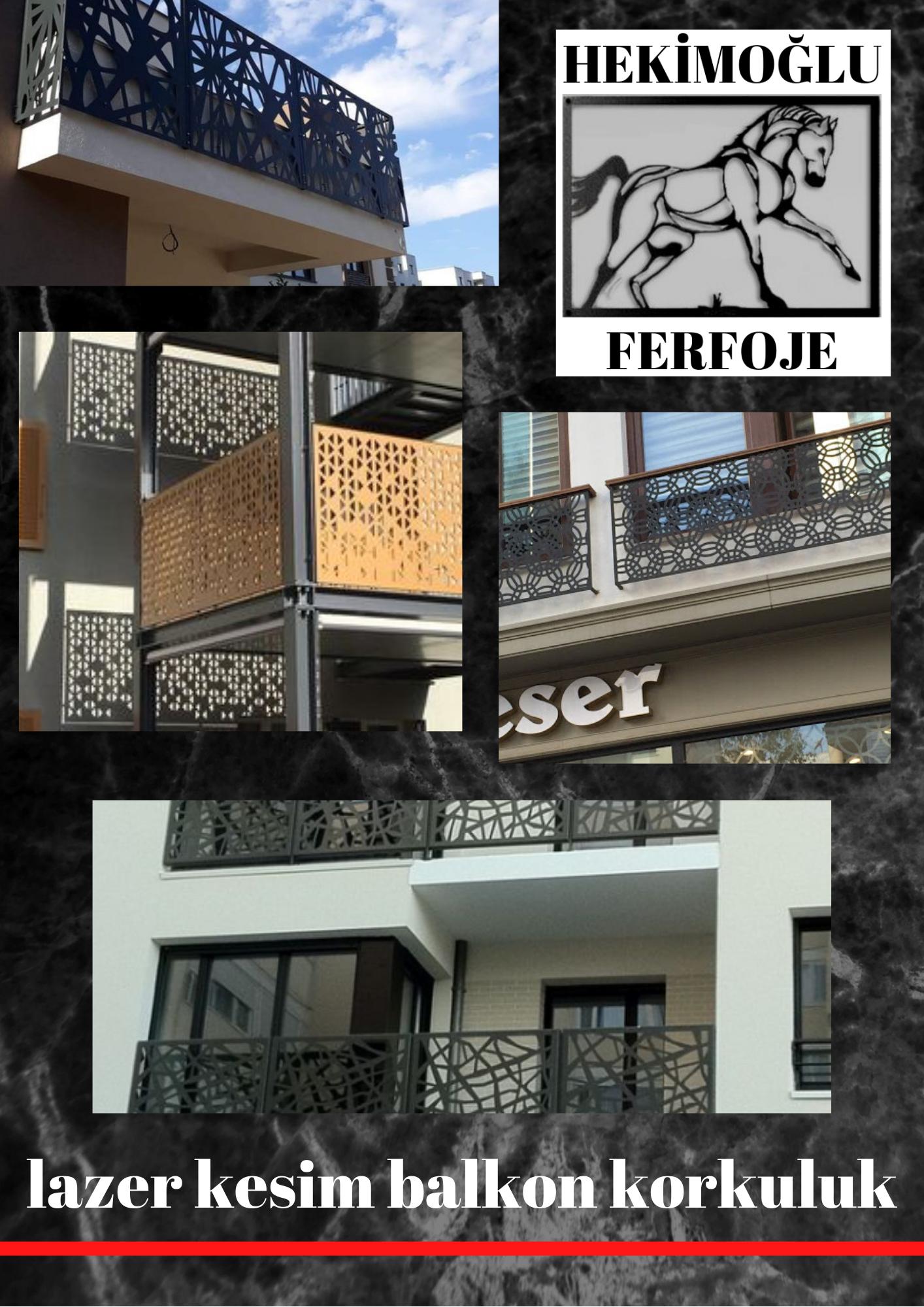 Lazer kesim balkon korkuluk İzmir firması