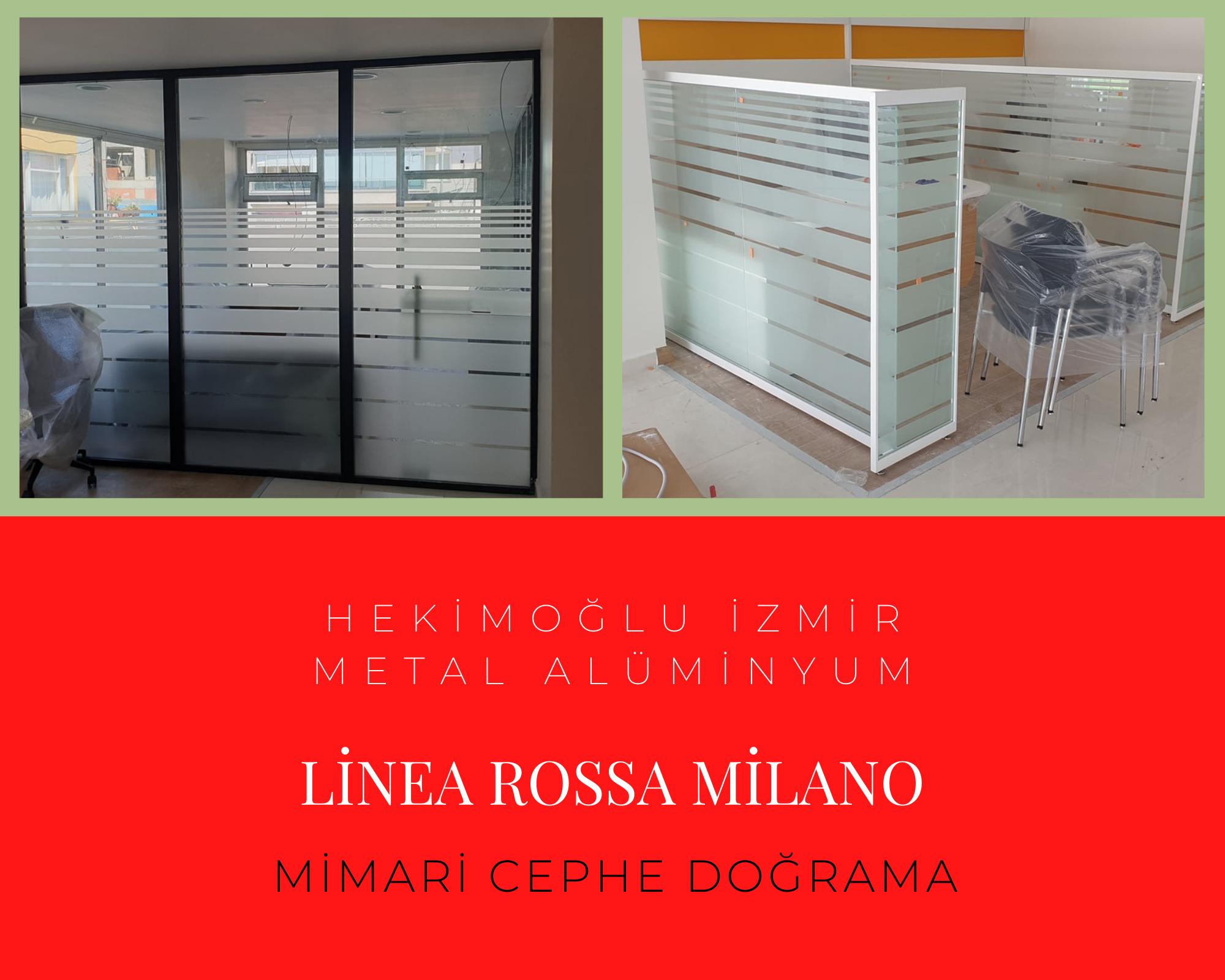 Linea Rossa ofis bölme profilleri